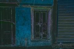 inverted door image with lines