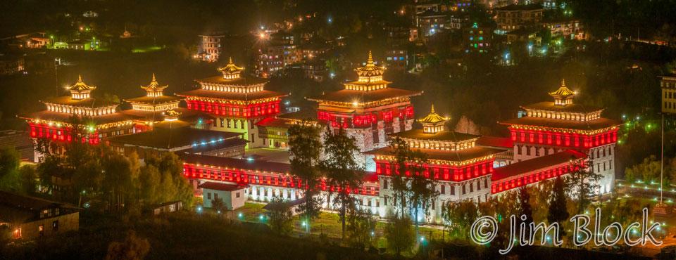 BHU-12001-Thimphu-Trashi-Chhoe-Dzong-at-night