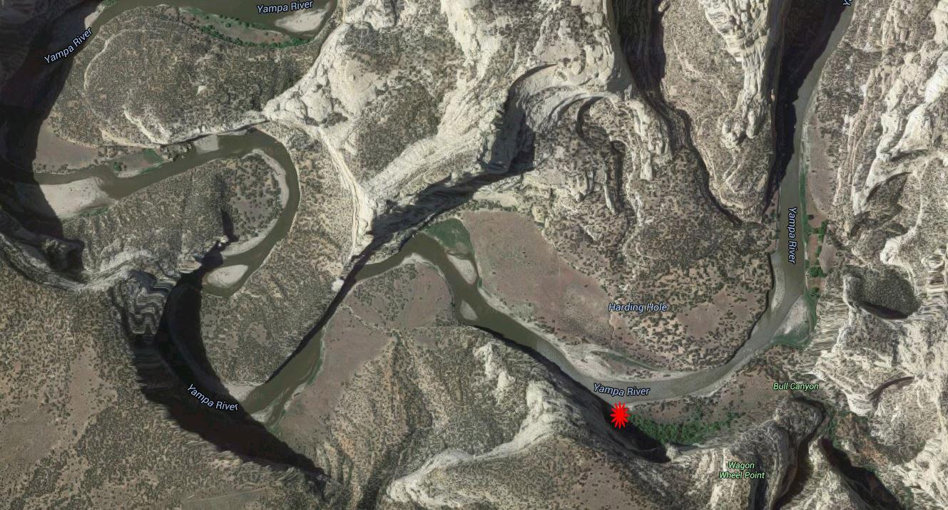 Harding Hole google earth view