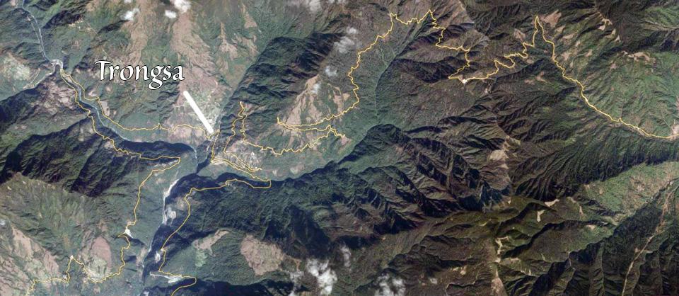 Trongsa view by Google Earth